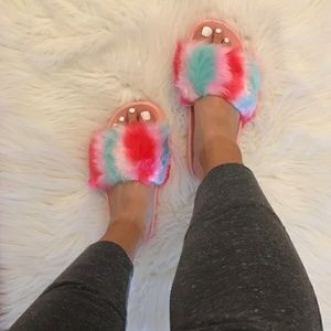 Furry Cotton Candy Slides